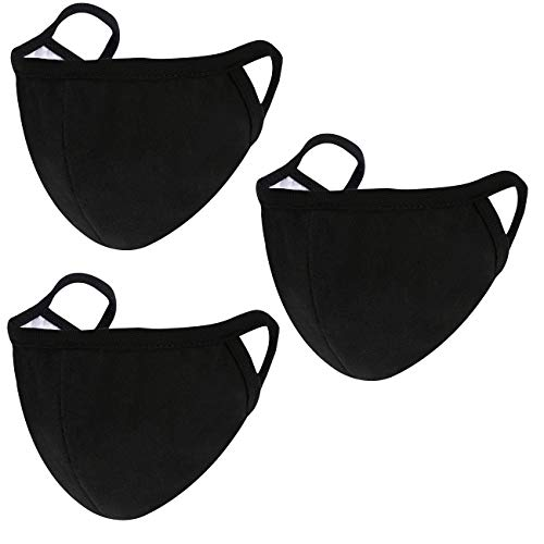 3 Pack Fashion Face Mask Unisex - Adjustable Reusable Cotton Warm Mouth Mask Cover for Outdoor