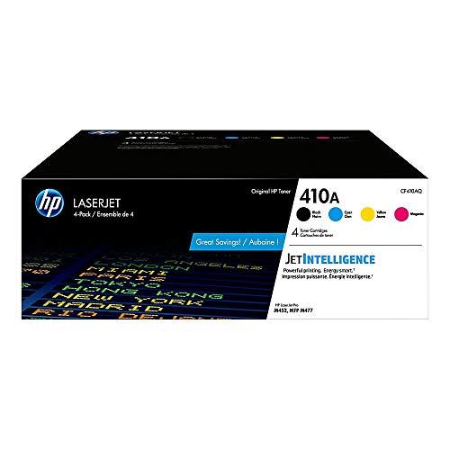 HP 410A | CF410A, CF411A, CF412A, CF413A | 4 Toner Cartridges | Black, Cyan, Magenta, Yellow