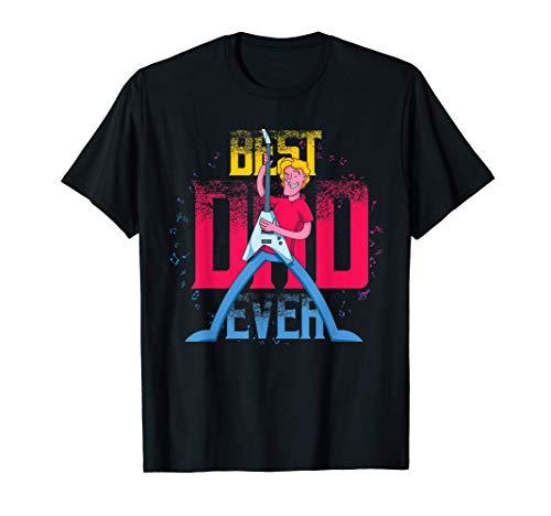El Mejor Padre Guitarrista Rockero Día De Papá Guitarra Camiseta