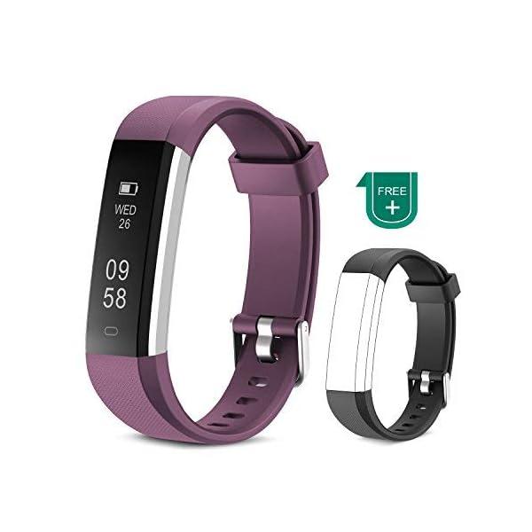 Muzili Pulsera de Actividad Inteligente Fitness Tracker Impermeable Pulsera Actividad Reloj Deportivo con Podometro… 2