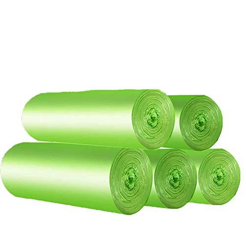 Bio-Müllbeutel 20 Liter, 100 St Reissfeste Abfallsäcke, Küchen Lebensmittel Abfallbeutel, 100{fd44bec6753a4b39a76f2d06dc6b248aa9430b089575fe12481d184014f494c3} Kompostierbar & Biologisch abbaubar Beutel Abfall Tüten aus Maisstärke