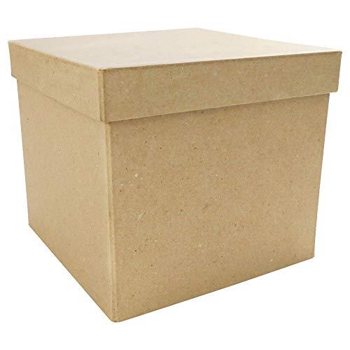 Decopatch Square Mach & Eacute Papierbox, 16 x 16 x 14 cm, braune Farbe