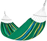 RVTYR Acampar Hamaca al Aire Libre 2-3 Personas Acampar Hamaca Ultraligero Cama Colgante portátil Rayas Transpirable Cama Colgante de Tela de algodón Mochila jardín de Viajes chinchorro Hamaca