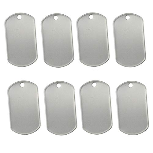 Orgrimmar Shiny Stainless Steel Military spec Rolled Edge Backing Dog Tags - Blank (Pack of 30)