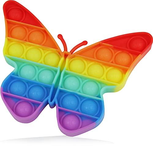 Push Pop Anti-Stress Spielzeug, Fidget Toy für Kinder und Erwachsene, Dino Einhorn Gadget Bubble Sensory Toy, Schmetterling