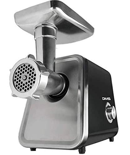 DMS elektrischer Fleischwolf 2000 Watt | Wurstmaschine | Zerkleinerer | Spritzgebäck | 2 Geschwindigkeitsstufen und Rücklauffunktion | Metallgetriebe | 3 Lochscheiben