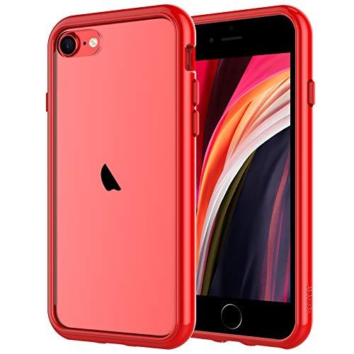 JETech Funda Compatible iPhone SE 2ª Generación, iPhone 8 iPhone 7, Anti- Choques y Anti- Arañazos, Rojo