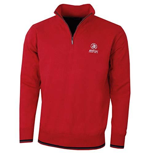 ABACUS Herren Dubson Wind Stop-Tour-Logo Golf Sweater - Rot - M