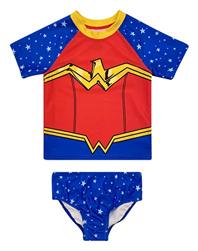 Dreamwave Toddler Girl Wonder Woman Two Piece Swimsuit Bathing Suit Bathingsuit 4T