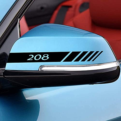 2 Piezas Coche Pegatinas Espejo Retrovisor Juego Pegatinas Estilo Pegatina, para Peugeot 208 Auto Styling