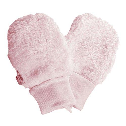 For you For you Fäustlinge Baby Winter Handschuhe Kunstpelz Mädchen Rosa Milchweiß aus Baumwolle-Futter (Rosa, 62/68 3-10 Monate)