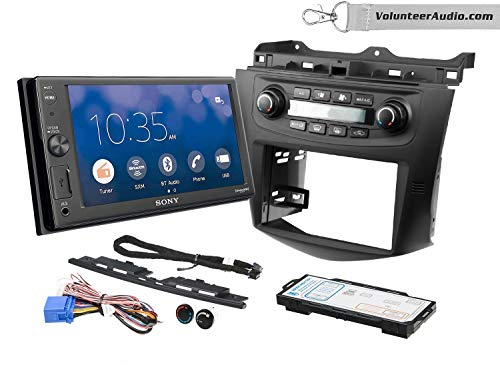 Sony XAV-AX1000 Double Din Radio Install Kit With Apple CarPlay, Sirius XM Ready, NO CD Player Fits 2003-2007 Honda Accord (Factory climate controls)