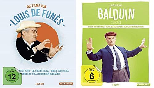 Louis de Funes Edition + Baldiun Collection / 7 Filme u.a. Louis und seine außerirdischen Kohlköpfe [Blu-ray Box Set]