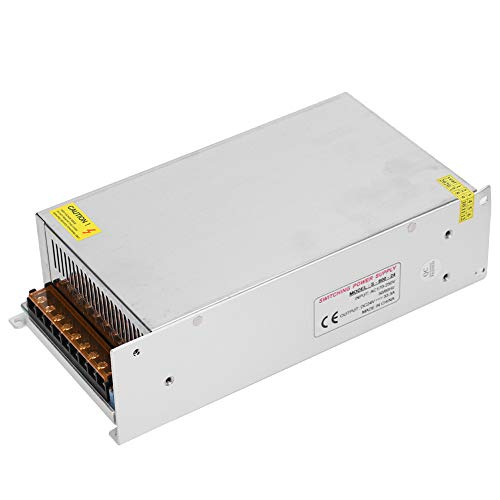 Adaptador de Controlador de Fuente de alimentación con Interruptor de 24 V DC, aleación de Aluminio CA a 24 V DC para Pantalla LED, CCTV, Radio, computadora(24 V / 33,3 A / 800 W)
