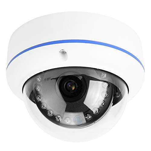 Cámara infrarroja Cámara Domo de Video HD a Prueba de Agua Monitor IP Cámara IR Vigilancia CCTV 1080P PoE para monitoreo de Garaje de Oficina en casa