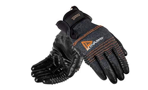 Ansell ActivArmr 97-008 Guanti da Lavoro Multiuso, Protezione Meccanica, Nero, Taglia M (1 Paio)