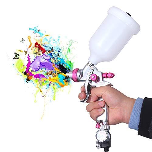 HVLP Gravity Feed Air Spray Gun -Professional Auto Car Paint Spray guns with 1.4mm Nozzle, 20oz Capacity