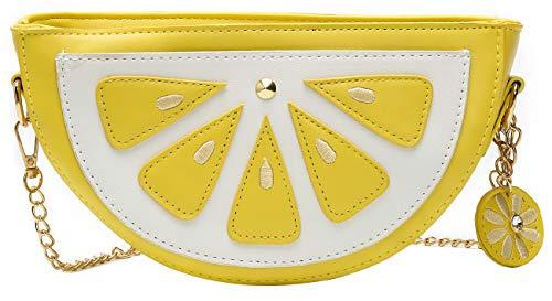 Mädchen-Handtasche mit Ananas-Motiv, für Damen, Clutch, Geldbörse, Gelb (zitronengelb), Small