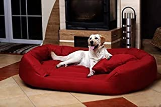 PETITUDE Luxurious and Durable Polyester Filled Soft Dual Colour Dog/Cat Bed ( Medium )