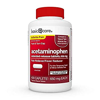 Amazon Basic Care Acetaminophen Extended-Release Tablets 650 mg Arthritis Pain 400 Count