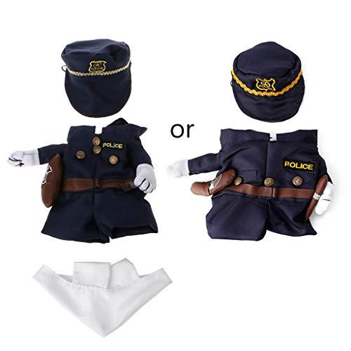 Lamdoo Dog Dress Up Divertente Pet Costume Cane Gatto Costume Abbigliamento Abito Abbigliamento Medico Poliziotto Cowboy S