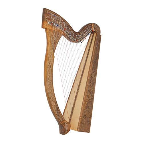 Roosebeck 29-String Minstrel Harp w/Chelby Levers - Walnut