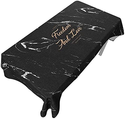 Mantel nórdico impermeable de algodón y lino, pequeño y fresco, rectangular, moderno y minimalista (color: B, tamaño: 140 x 180 cm)