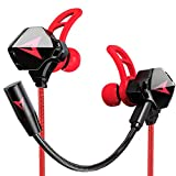 KASOTT Battle Buds in-Ear Gaming Headset for Mobile Gaming, Nintendo Switch, Xbox One, PS4, Pro, PC - Black/Silver - Nintendo Switch