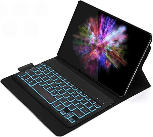 Jelly Comb Samsung Galaxy Tab A 2019 10.1 Backlit Keyboard Case, Detachable Bluetooth Keyboard UK Layout QWERTZ with Protective Case for Samsung Galaxy Tab A 2019 10.1 T515 / T510, Black
