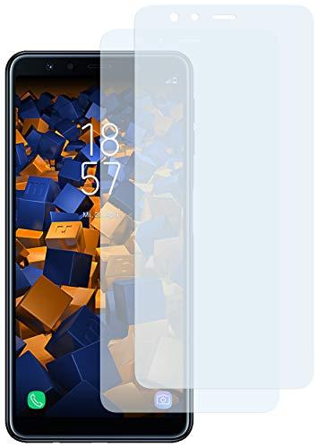 mumbi Schutzfolie kompatibel mit Samsung Galaxy A7 2018 Folie klar, Bildschirmschutzfolie (2X)