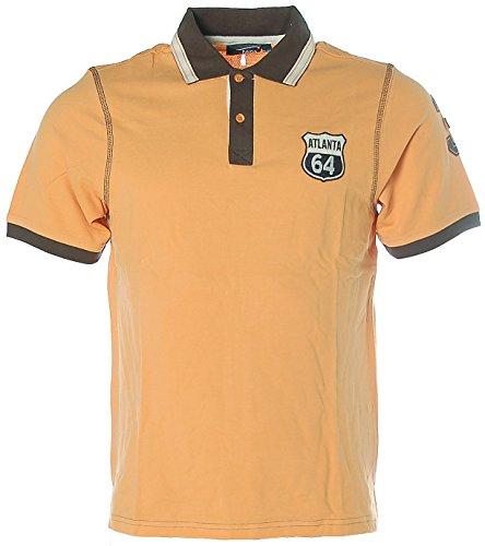 Heine Herren Kurzarm Shirt Poloshirt Pikee 44/46 orange Atlanta