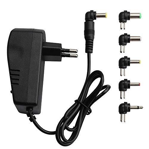 Para el hogar Electronics7 diversos enchufes Adaptador de corriente universal ajustable de voltaje 110 220V a 12V 3V 4.5V 6V 7.5V 9V Adaptador de CA CC 3A Adaptador de fuente de alimentación máxima de