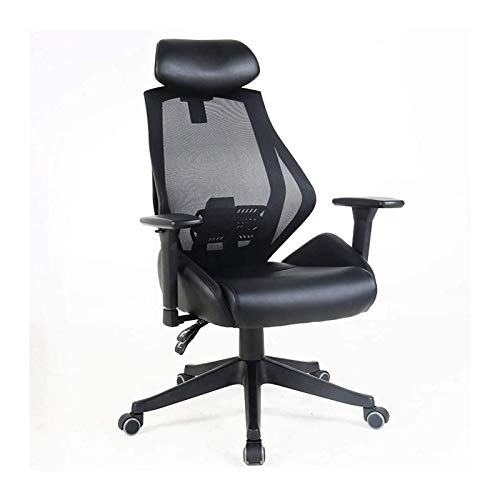 Household Ergonomic Mesh Office Chair with Roller Blade Wheels, Ridiculously Comfortable High Back Computer Desk Chair and Fully Adjustable (Size : Without Footrest)