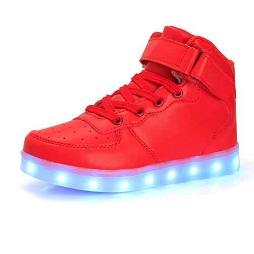 NULL-NULL MaxMandy 2021 Sieben Farben LED Leuchtende Blinkende Low-Top Hight-Top Sneaker USB Aufladen Schuhe, Unisex Kinder Erwachsene Licht Schuhe.