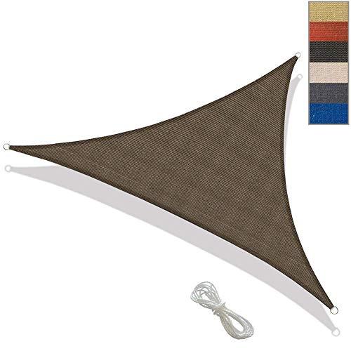 Dreieck UV-Block Sonnensegel Perfekt für den Outdoor Patio Garden,Wasserdicht und langlebig,Brown,4m×4m×4m