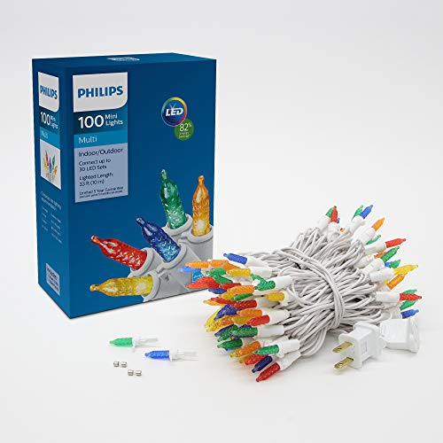 Philips 100 LED Multi Colored Faceted Mini Christmas Lights
