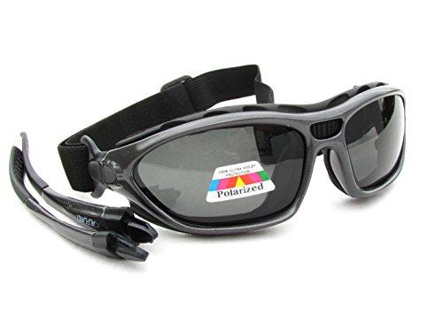 Alpland Gafas de sol deportivas, gafas de ciclismo, gafas de montaña, gafas de kite, polarizadas (color MTL – cristal polarizado categoría 3)
