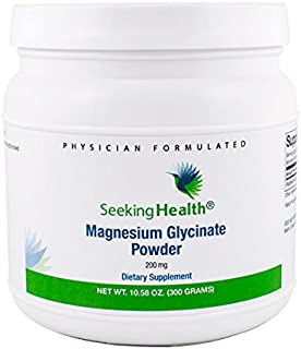 Magnesium Glycinate Powder | Provides 200 mg of Magnesium Bisglycinate Per Serving | Well-Tolerated Form of Magnesium | 12...
