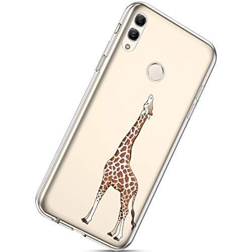 Lowest Prices! Herbests Compatible with Huawei P Smart 2019 Flower Case Girls Men Clear Design Thin Slim Fit Soft Flexible Crystal Transparent Silicone Rubber TPU Back Cover,Giraffe