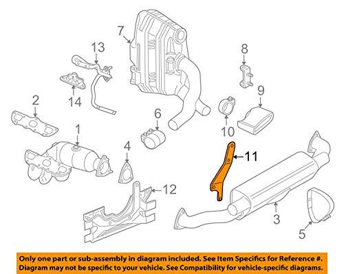 Porsche 997 111 129 31, Exhaust Bracket