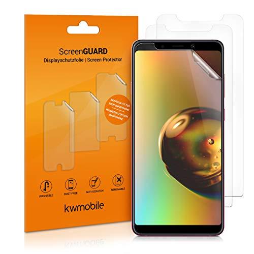 kwmobile 3X Folie kompatibel mit Samsung Galaxy A9 (2018) - klare Bildschirmschutzfolie Bildschirmschutz kristallklar Bildschirmfolie Schutzfolie