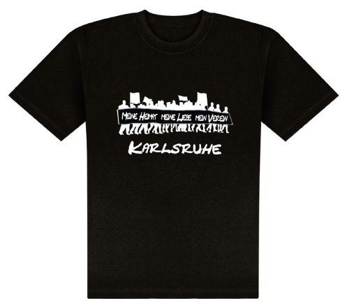 World of Football T-Shirt Meine Heimat. Karlsruhe - M