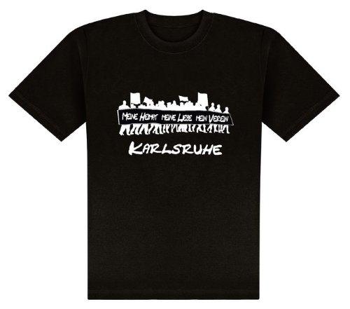 World of Football T-Shirt Meine Heimat. Karlsruhe - XL