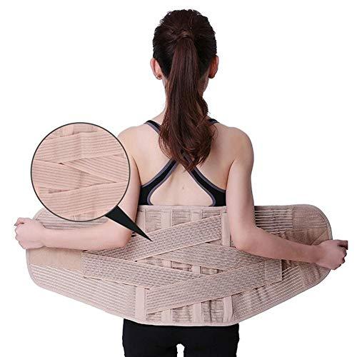 Faja lumbar Ensanchamiento de la cintura correa de soporte de espalda baja médica de correa de soporte Hombres Mujeres columna lumbar Apoyo corsé ortopédico Volver apoyo de la ayuda faja lumbar mujer
