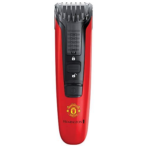 Remington Regolabarba Beard Boss Linea Manchester United con Accessorio Edgestyler, Ricaricabile, con Stemma del Manchester United, 9 Lunghezze di Taglio Regolabili, Mb4128-280 g