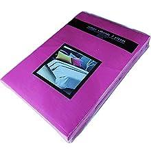 TIENDA EURASIA® Juego 3 Sábanas de Cama 135cm - Microfibra Transpirable - Tacto Suave (Cama 135-135x190/200 cm, Rosa Fucsia)