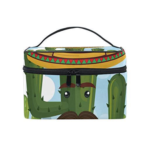 FANTAZIO make-up zakje goedkope Cactus Character Met Mexicaanse Hoed make-up Organizer