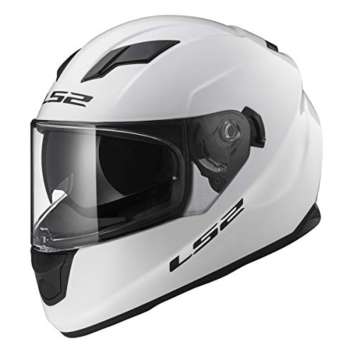 Biker Full Face Stream Street White Helmet
