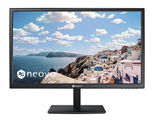 AG Neovo CD-2401 24 Inch LCD Monitor with Protective Glass Screen, HDMI Cable Included, 1080p, HDMI, VGA Inputs and Speakers, VA Panel, Flicker Free, Blue Light Filter