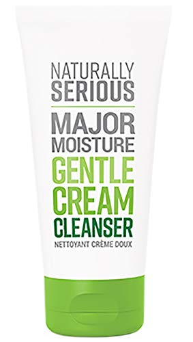Naturally Serious - Major Moisture Natural Gentle Cream Cleanser | Clean Skincare, Vegan, Cruelty-Free, Gluten-Free (4 fl oz | 119 ml)